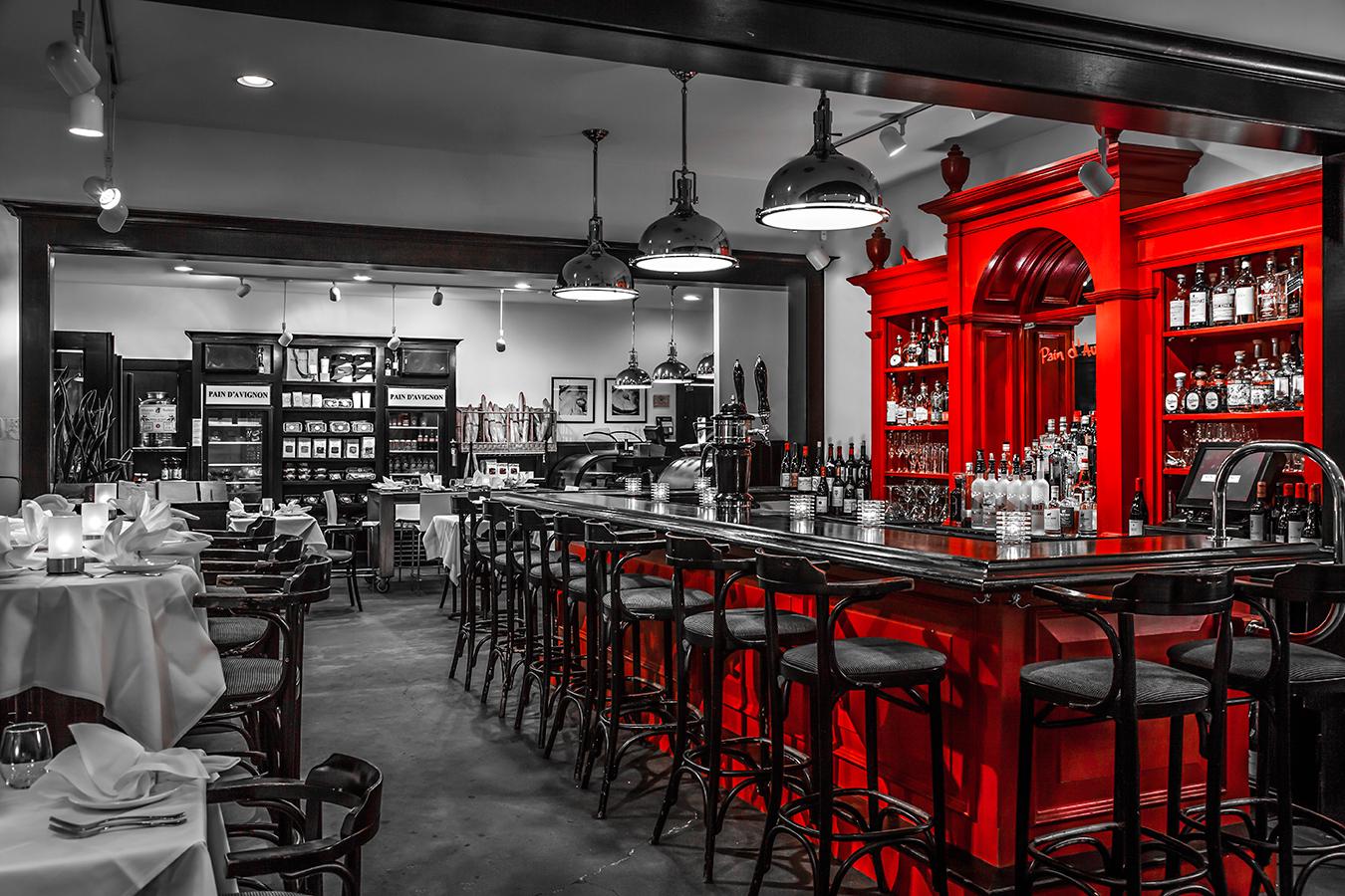 Contemporary Interior Designers Red Bar